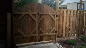 Landscaping fence in Oakville