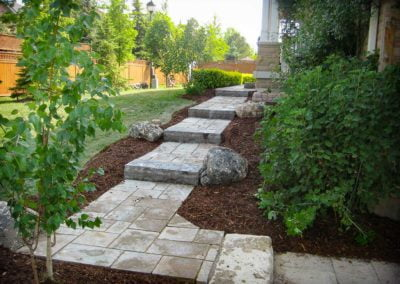 landscape Burlington stone steps pathway