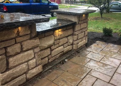 landscape burlington stone wall